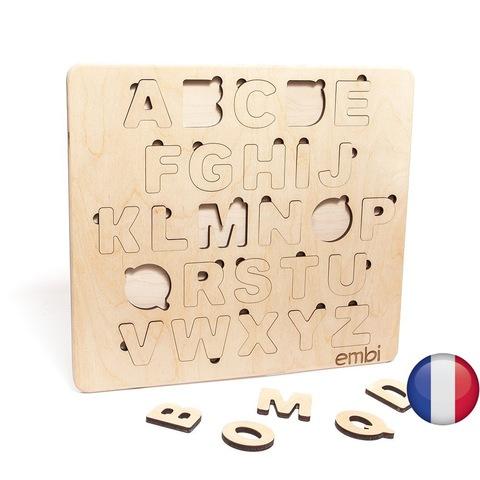 Деревянная азбука французский язык (размера стандарт)