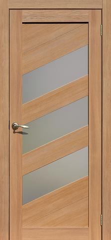 Дверь La Stella 216, стекло матовое, цвет дуб сантьяго, остекленная