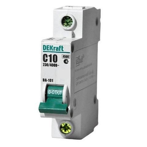 Автоматический выключатель (автомат) 1Р 10А ВА-101 DEKraft