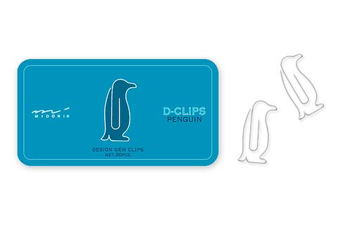 Скрепки Midori D-Clips Penguin (30 шт.)