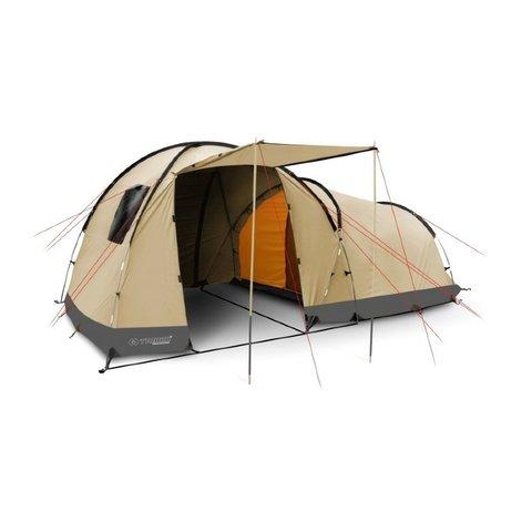 Кемпинговая палатка Trimm Family Arizona II, 4+1 (песочная, синяя)