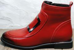 Женские ботинки без шнурков демисезонные Evromoda 1481547 S.A.-Red