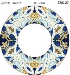 Эскиз для росписи, Зеркало диаметр-45см, SMAR-ZBK-27