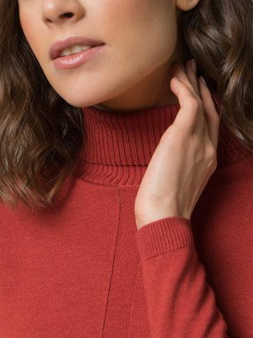 Женский джемпер оранжевого цвета из шерсти и шелка - фото 4