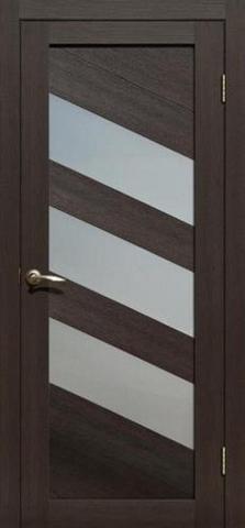 Дверь APOLLO DOORS F16, стекло матовое, цвет каштан тёмный, остекленная