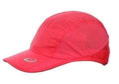 Женская спортивная кепка Асикс коралловая с регулируемым ремешком и сетчатыми вставками