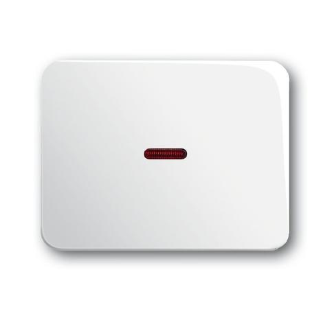 Выключатель/переключатель одноклавишный на 2 направления(проходной) с подсветкой. Цвет Белый глянцевый. ABB (АББ). Alpha (Альфа). 1012-0-2194+1784-0-0545+1751-0-2102