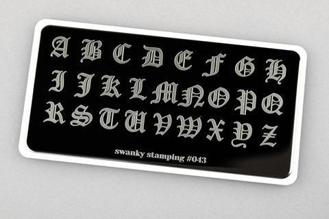 Пластина Swanky Stamping 043