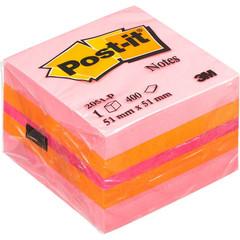 Стикеры Post-it миникуб 2051-Р 51х51 розовый 400л.