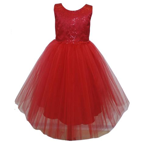 Платье длинное красное