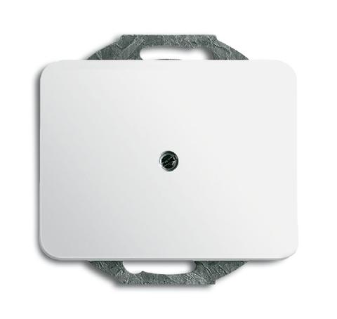 Вывод кабеля с компенсатором натяжения кабеля. Цвет Белый глянцевый. ABB (АББ). Alpha (Альфа). 1710-0-1209