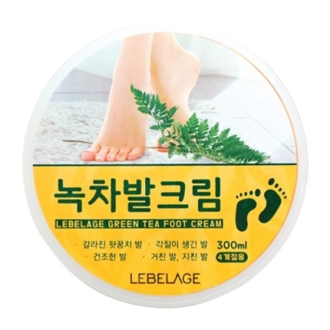 Lebelage Крем для ног с экстрактом зеленого чая Green Tea Foot Cream 300мл