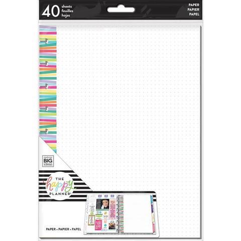 Дополнительный блок листов для ежедневника Happy Planner Classic -Multi Stripe