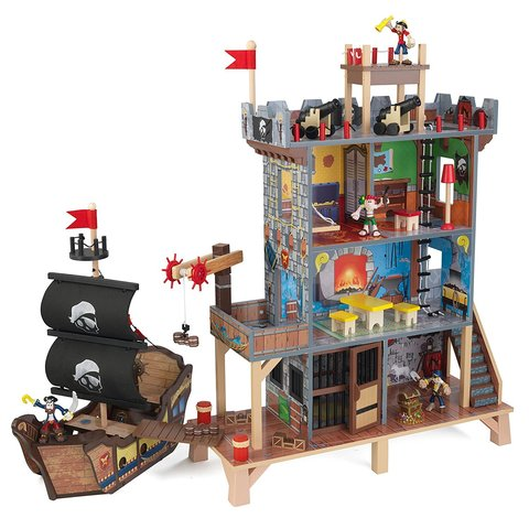 KidKraft Пиратская крепость Форт (с кораблем) - игровой набор 63284_KE