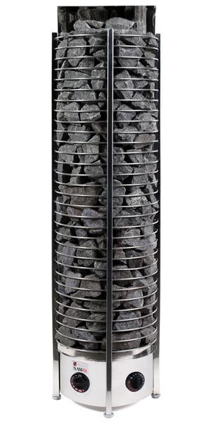 Серия Tower: Электрическая печь SAWO TOWER TH6-90NB-WL-P (9 кВт, встроенный пульт, пристенная) электрокаменки комплект sawo set002 электрическая печь tower th6 90ni wl пристенная пульт управления innova classic s inc s