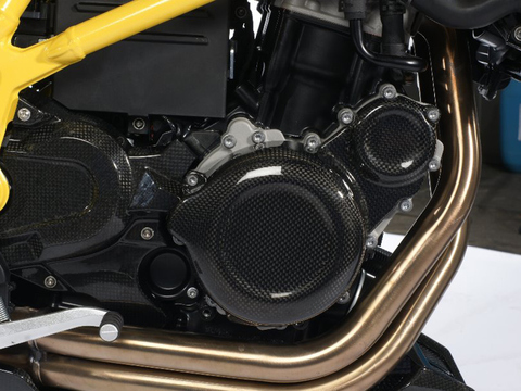 Крышка двигателя (правосторонняя) BMW F650/700/800GS/GSA карбон