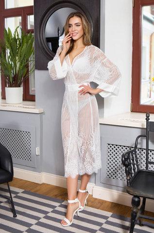 Женский кружевной халат MIA-MIA Lolita Лолита 17467 белый