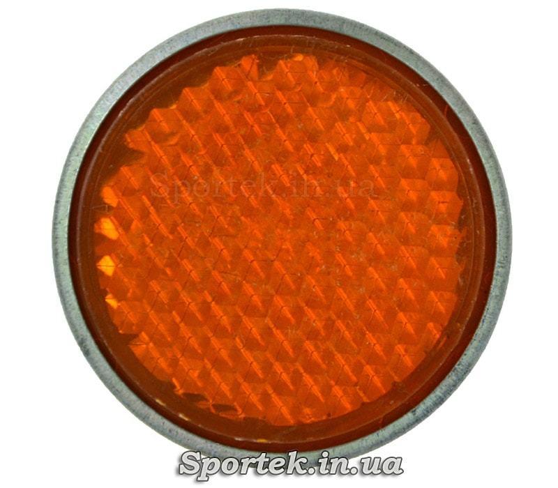 Бічні помаранчеві катафоти на велосипед