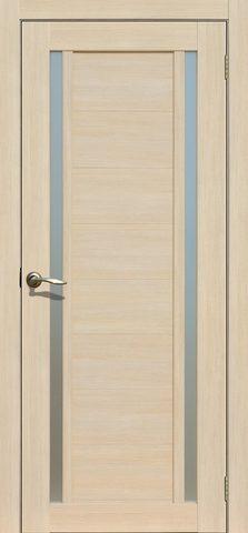 Дверь Fly Doors L-23, стекло матовое, цвет ясень 3D, остекленная