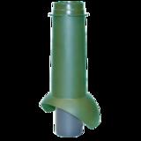Неизолированый вентиляц.выход канализации 110/500 RAL 6005 500х110мм