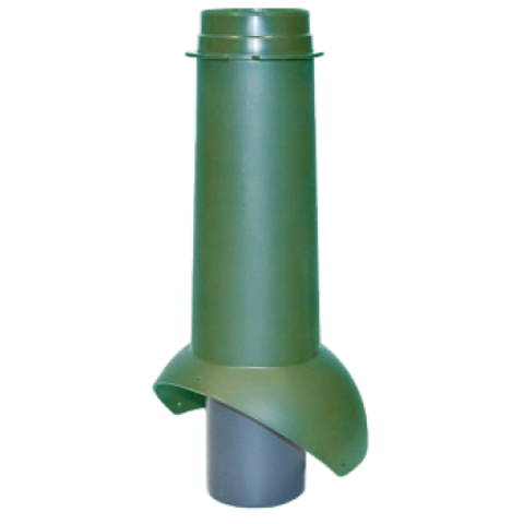Неизолированый вентиляц.выход канализации 110/500 RAL 6005 (RR 11) 500х110мм