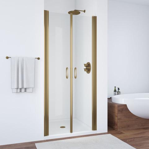 Душевая дверь в нишу Vegas Glass E2P профиль бронза, стекло прозрачное