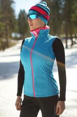 Женский элитный лыжный жилет Nordski Elite G-TX Blue