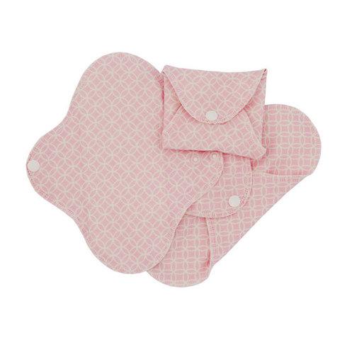 Многоразовые прокладки женские slim, орг.хлопок, 3шт., Pink Halo