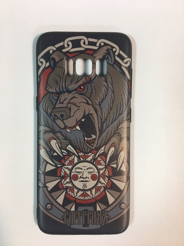 Кейс для смартфона Samsung S8 чёрный силиконовый
