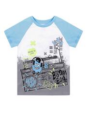 BKT002366 фуфайка детская, сине/белая