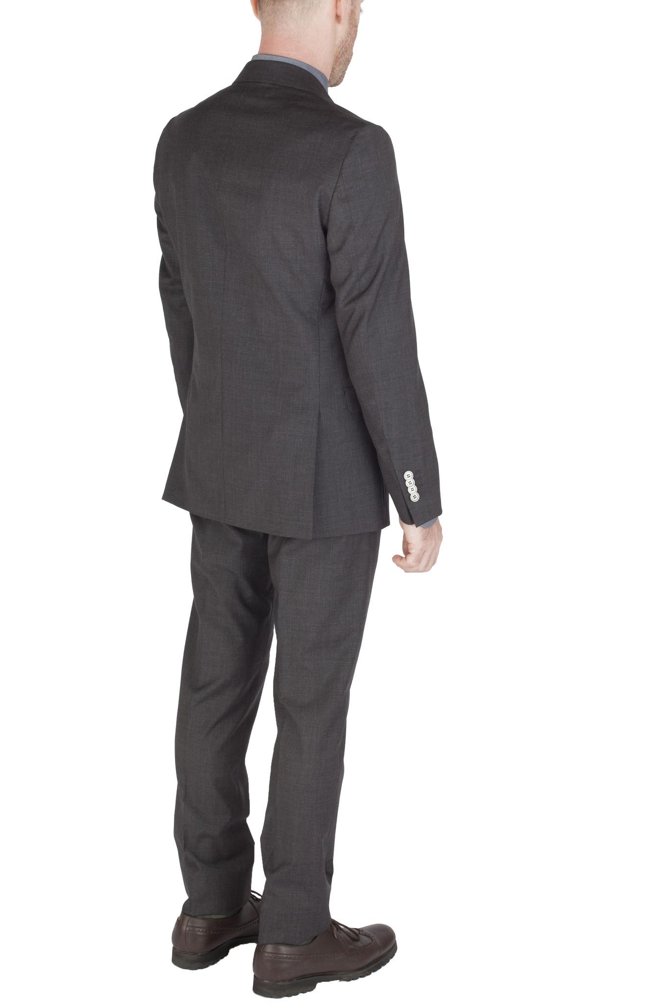 Тёмно-серый костюм из 100%-ной шерсти