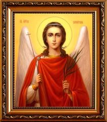 Ангел Хранитель. Икона на холсте.