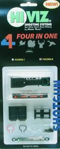 HIVIZ МУШКА FO2008-II 4 МУШКИ В 1 ДЛЯ ПЛАНКИ ШИРИНОЙ 7,9 ММ И 9,7 ММ