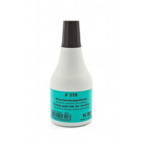 Краска штемпельная спец. 320С, черн. для ткани, 50мл Германия