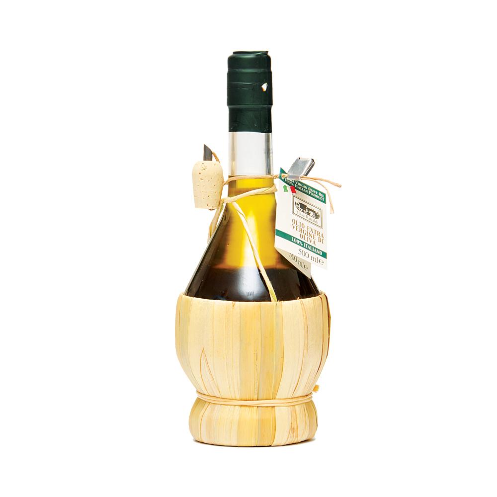 Масло Casa Rinaldi оливковое нерафинированное фильтрованное Extra Vergine в бутыли Фиаско 500 мл