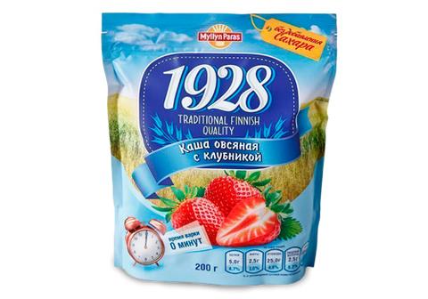 Овсяная каша Myllyn Paras с клубникой и сахаром, 200г