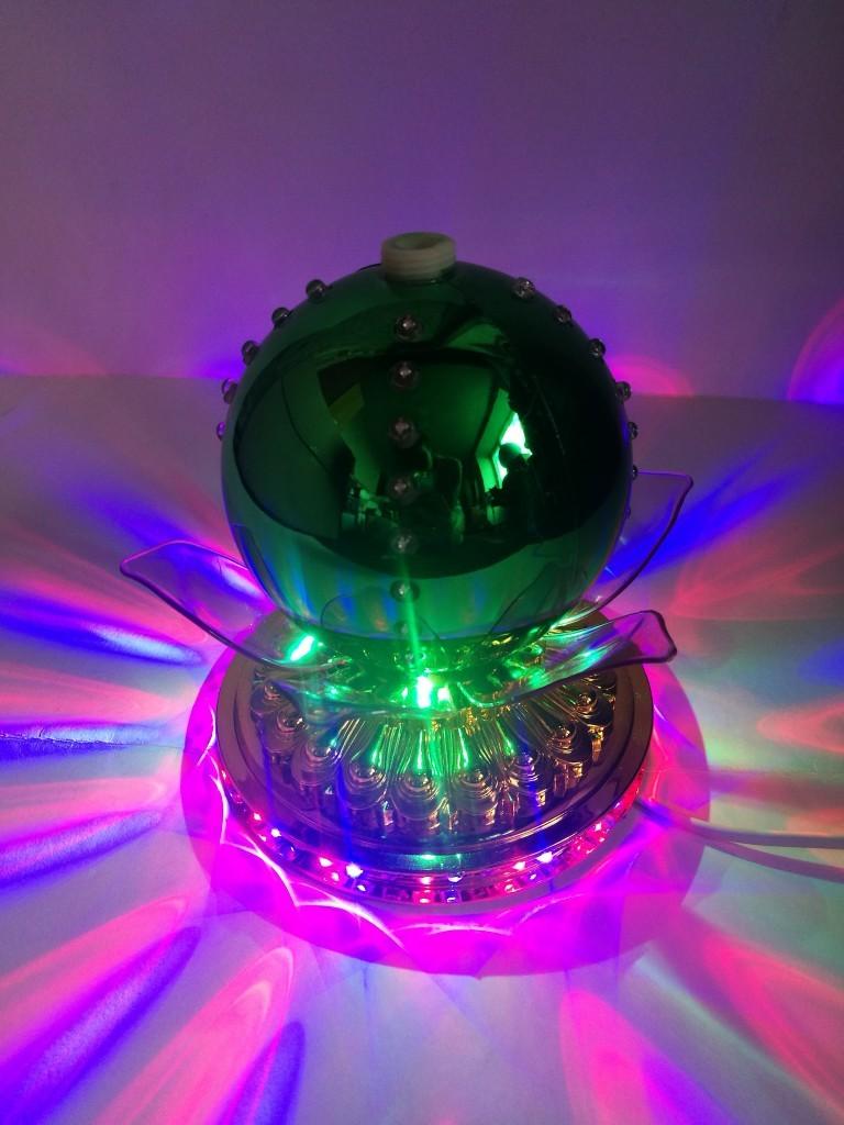 LED-светильник Лотос с шаром цветной, 14 см