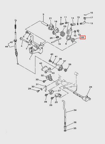 Пружина торсионная  для лодочного мотора T15, OTH 9,9 SEA-PRO (12-22)