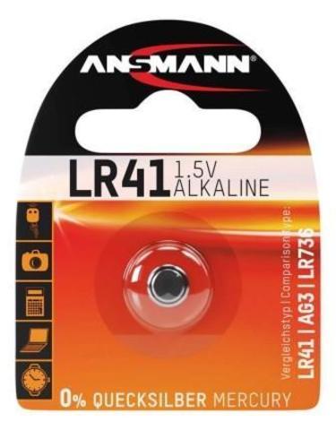 Батарейка LR41 / LR736 / AG3 ANSMANN 1.5V