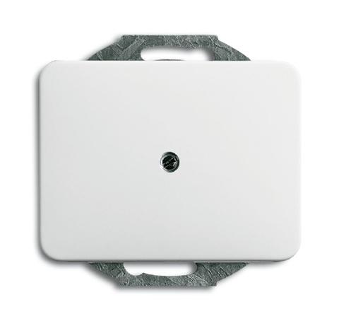 Заглушка с суппортом. Цвет Белый глянцевый. ABB (АББ). Alpha (Альфа). 1753-0-7412
