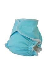 Многоразовый тканевый подгузник для новорожденных Little Pirate Бирюза, на липучках