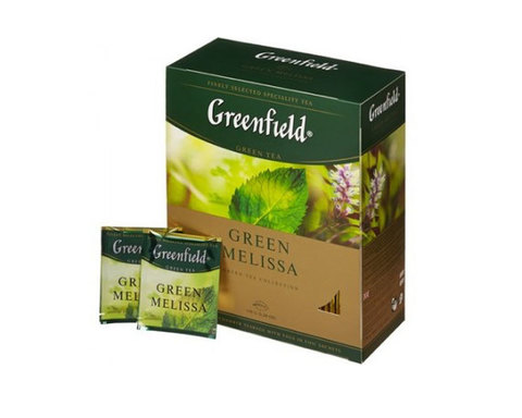 Greenfield Green Melissa, 100 пак/уп