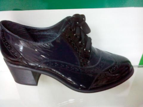 Туфли женские на шнурках Olteya dark blue