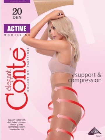 Conte Active Колготки женские 20d, p.3 mocca