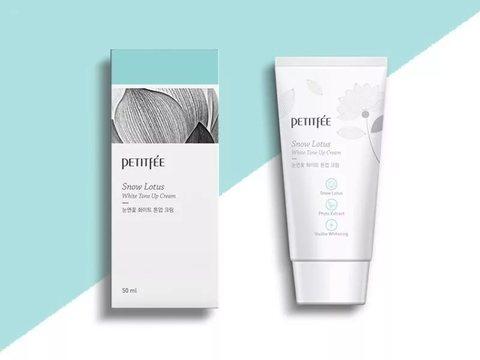 Оcветляющий крем для лица с экстрактом лотоса Petitfee Snow Lotus White Tone Up Cream, 50 ml