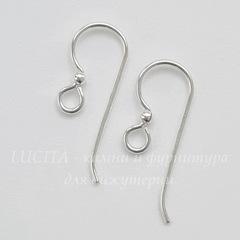 Швензы-крючки TierraCast с шариком 22х8 мм (цвет-серебро), пара