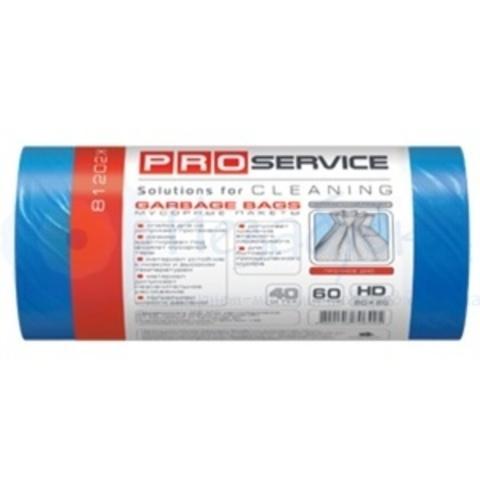 PRO Пакеты для мусора ХД 60л/40шт. синие р.(60*80)