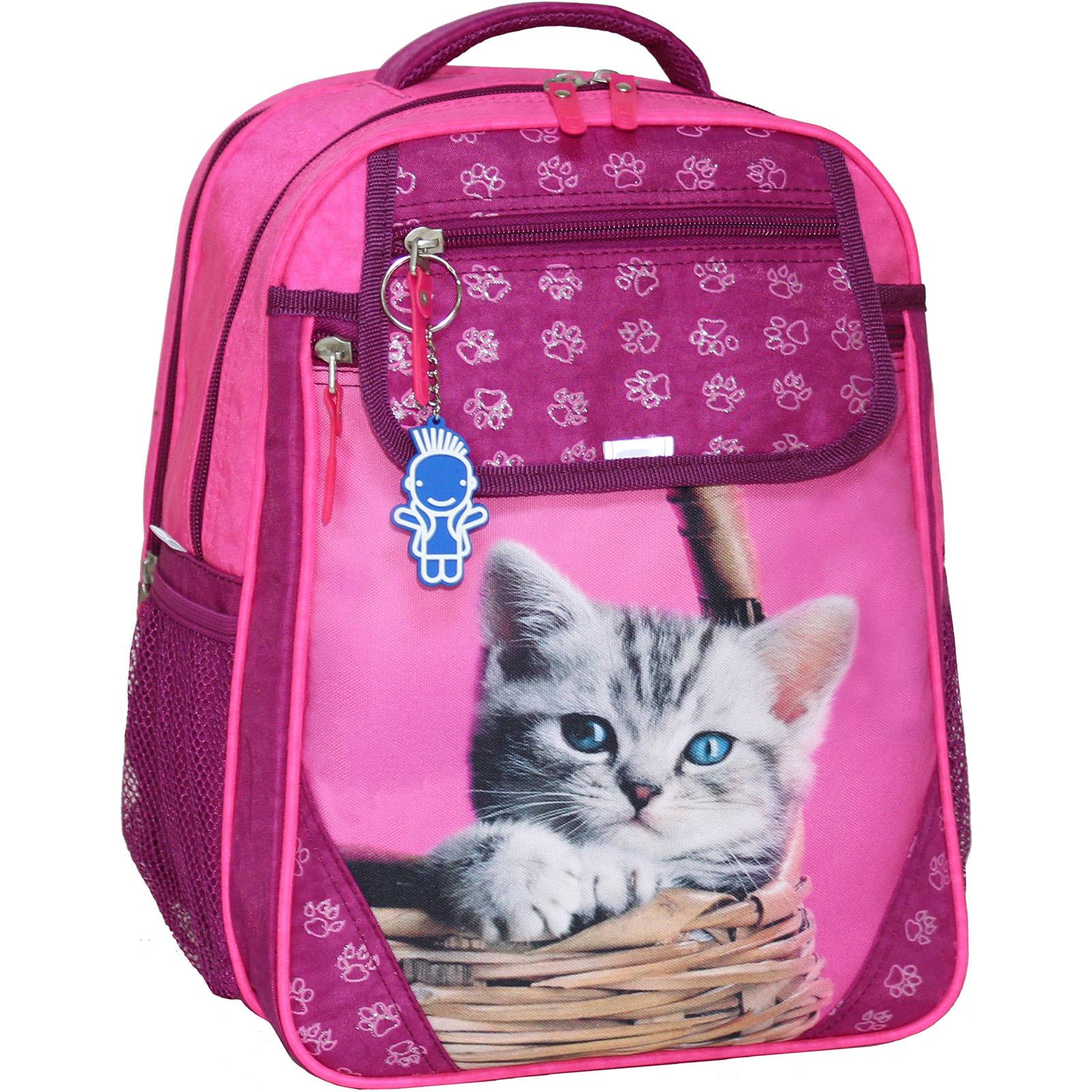 Школьные рюкзаки Рюкзак школьный Bagland Отличник 20 л. Малина (котенок в корзинке) (0058070) IMG_1687.JPG