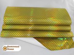 Кожа Рыбья чешуя желтая