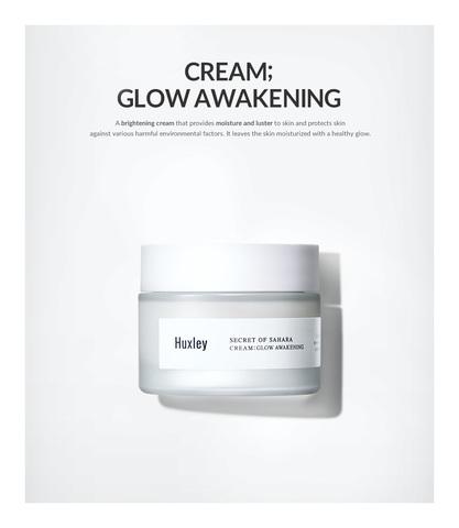 Увлажняющий крем, выравнивающий тон кожи, 50 мл / Huxley Secret of Sahara CREAM ; GLOW AWAKENING